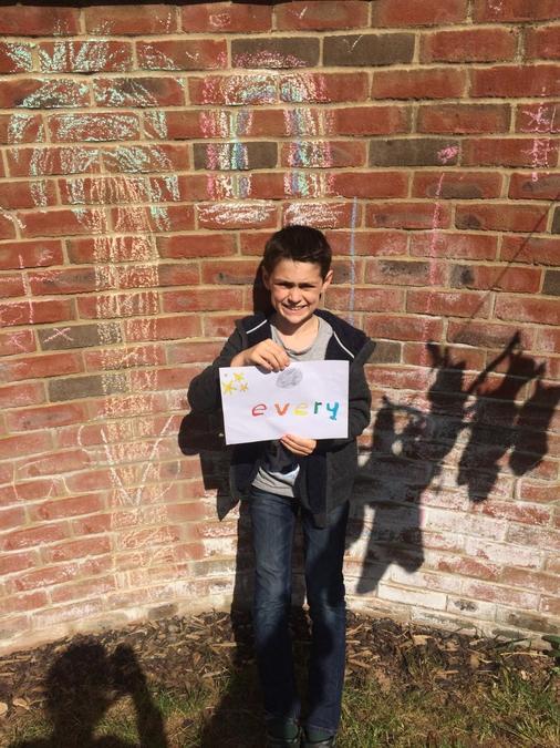 Calum's NHS chalk picture.