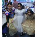 We dressed as princesses...
