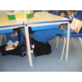 We read under the tables!