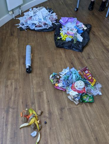 Waste after sorting