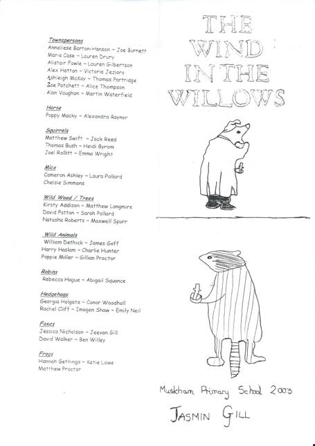2003 Wind in the Willows P1 Thanks to Sue Hancock