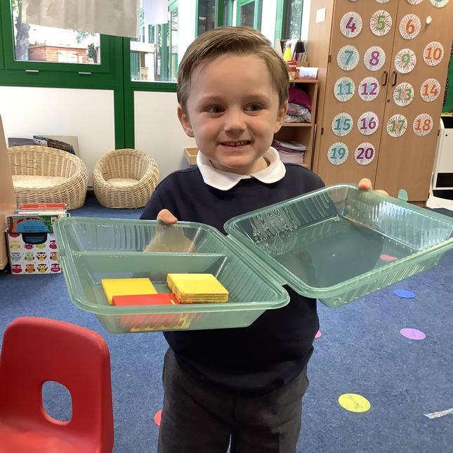 We have been packing lunch boxes for picky shape monsters!