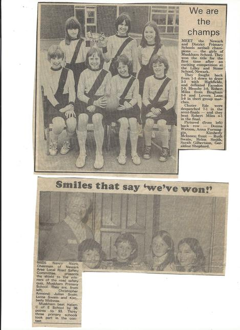 Muskham Winners 1979 & 1980. Thanks: Lorna Swain.