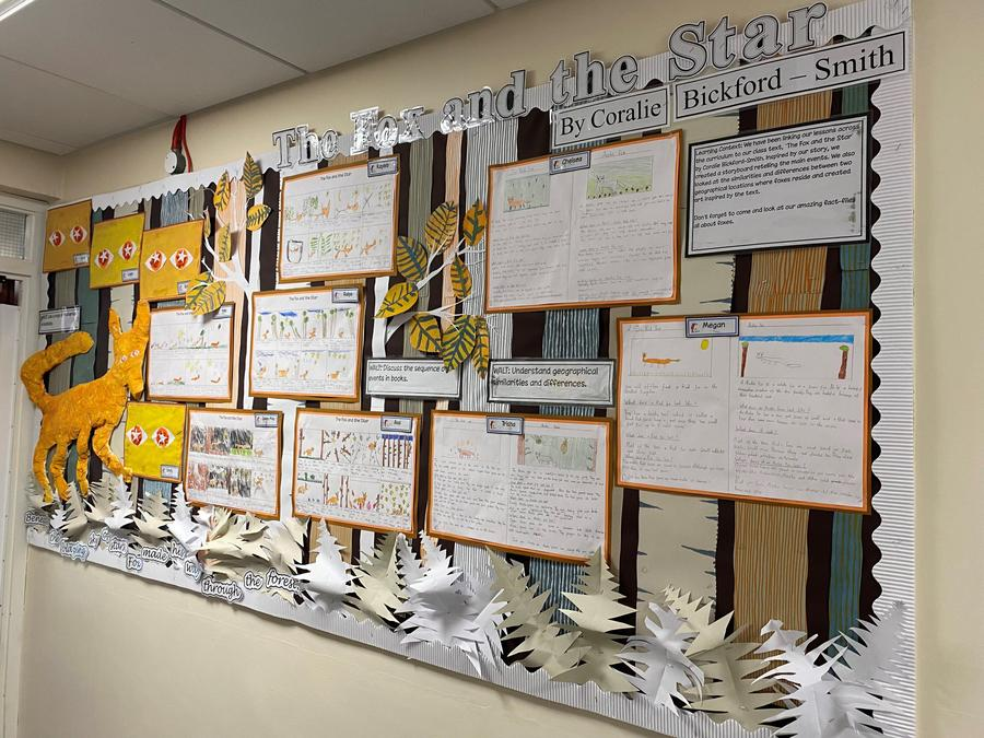 Our beautiful class display, based on 'The Fox and the Star'