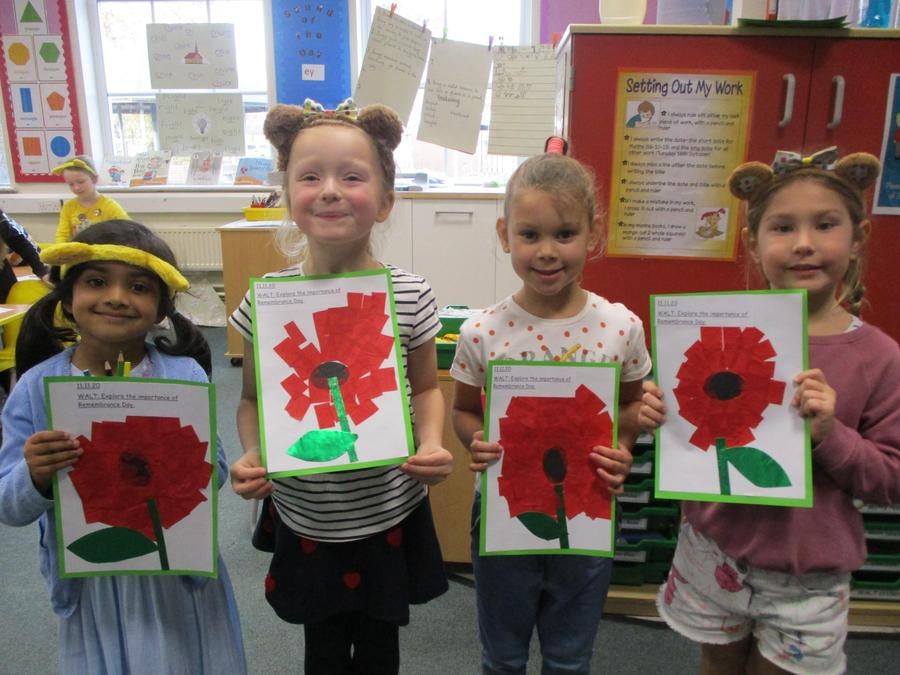 We created some beautiful Remembrance pictures.