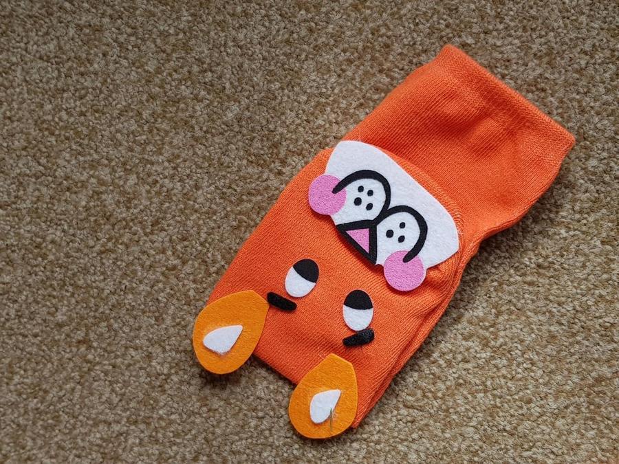 A tiger sock puppet.  Grrr!