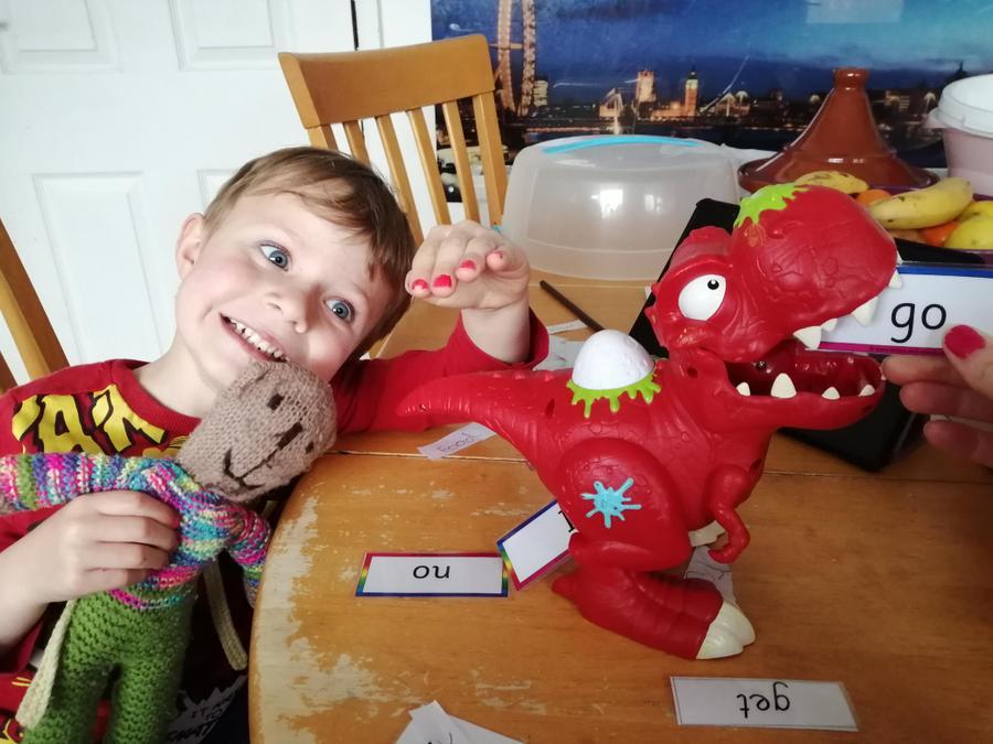 Dinosaur tricky word reading!