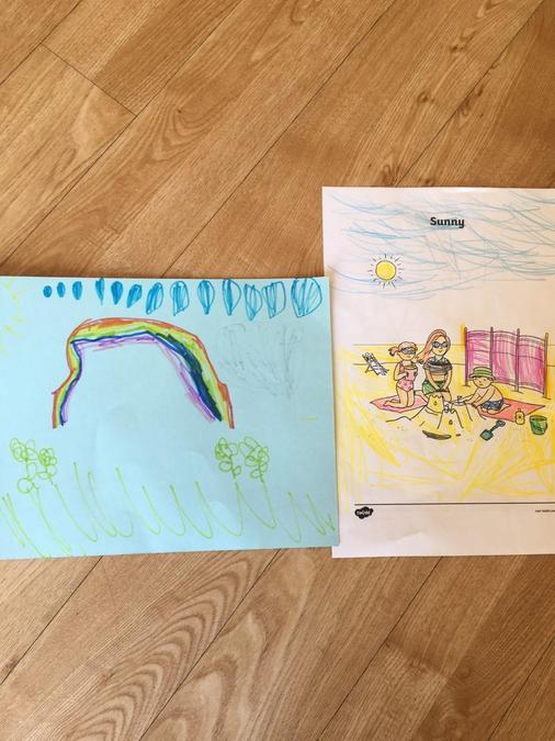 Mia's drawings.