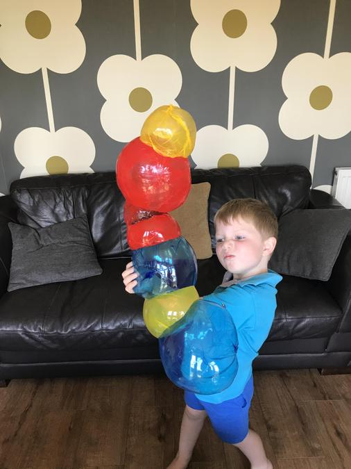 Building with balloons!