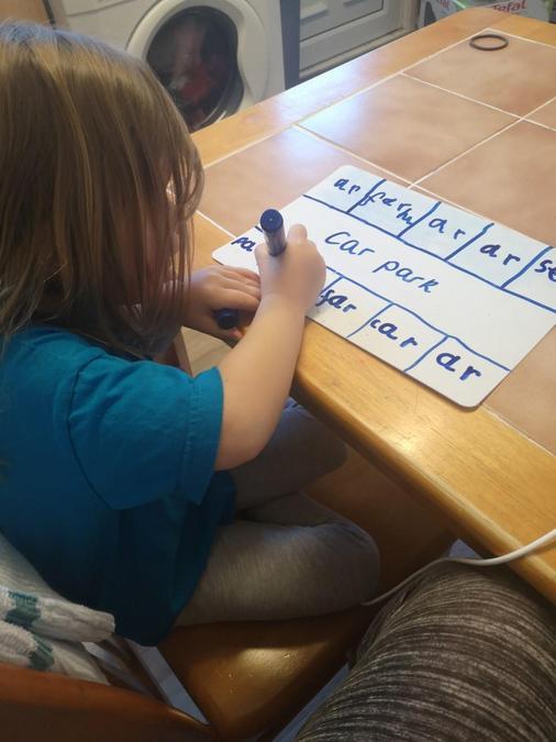 Writing ar words