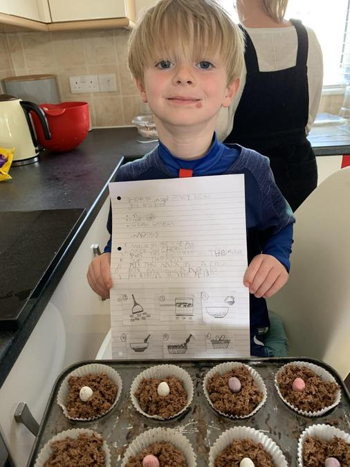 Ordering, reading and writing a recipe