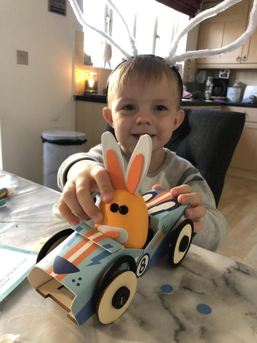 A car for the bunny!