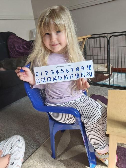 Number formation practice.