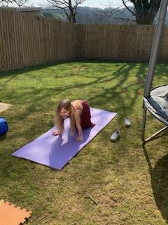 Keep calm and do yoga in the sunshine