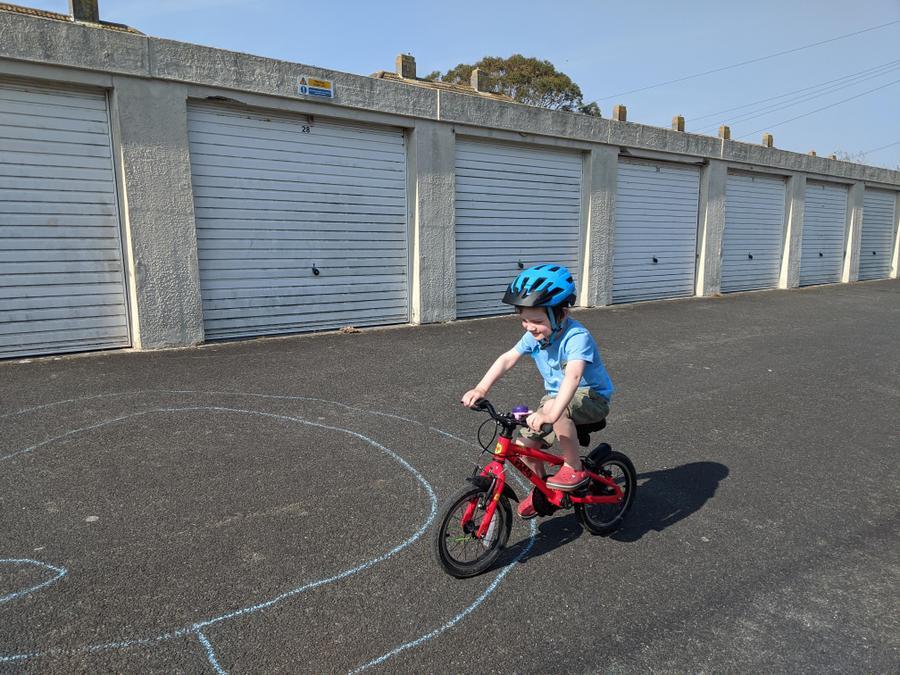 Brilliant bike riding.