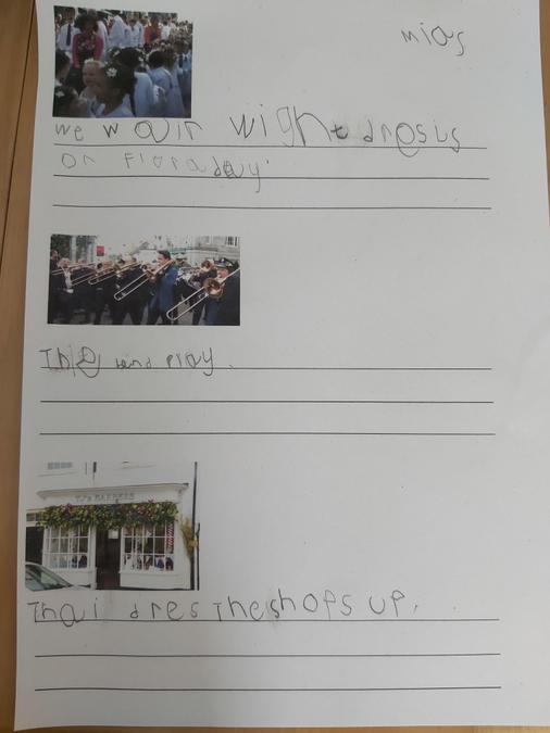 Fabulous Flora Day writing.