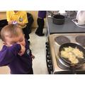 We made potato pancakes
