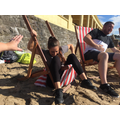 Miss Wells found deck chairs tricky