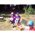We enjoyed eating our picnic in the sunshine.