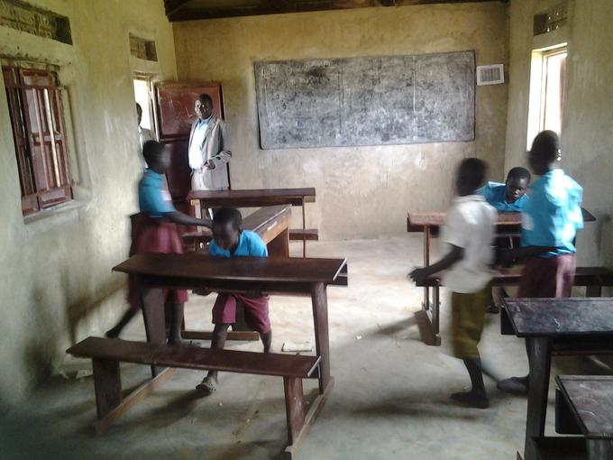 Interior of new classrooms