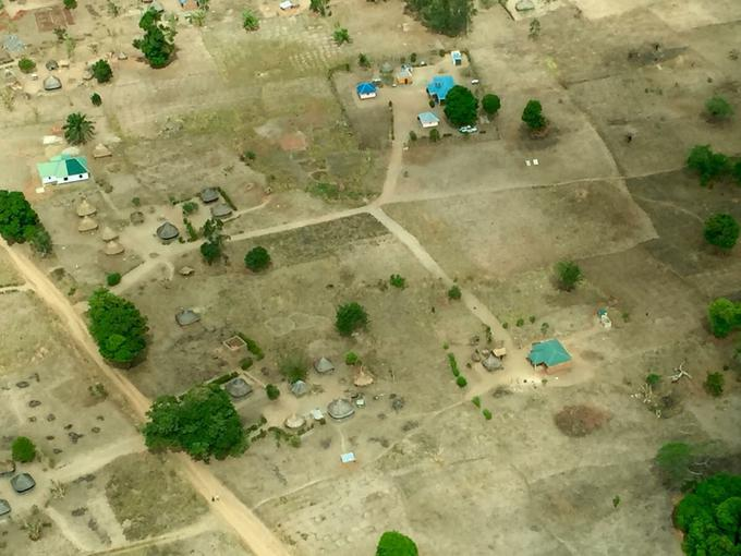 Clusters of huts, South Sudan