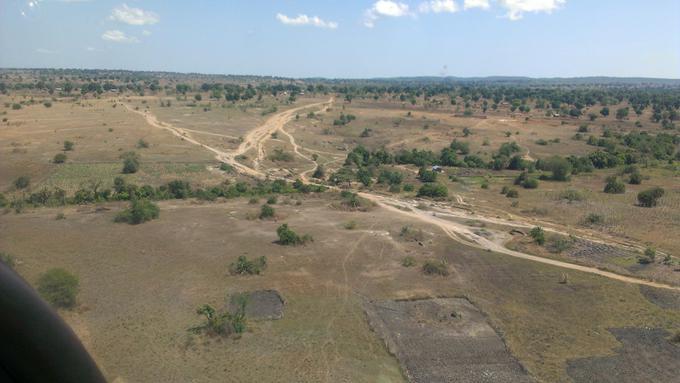 South Sudan close to Uganda border