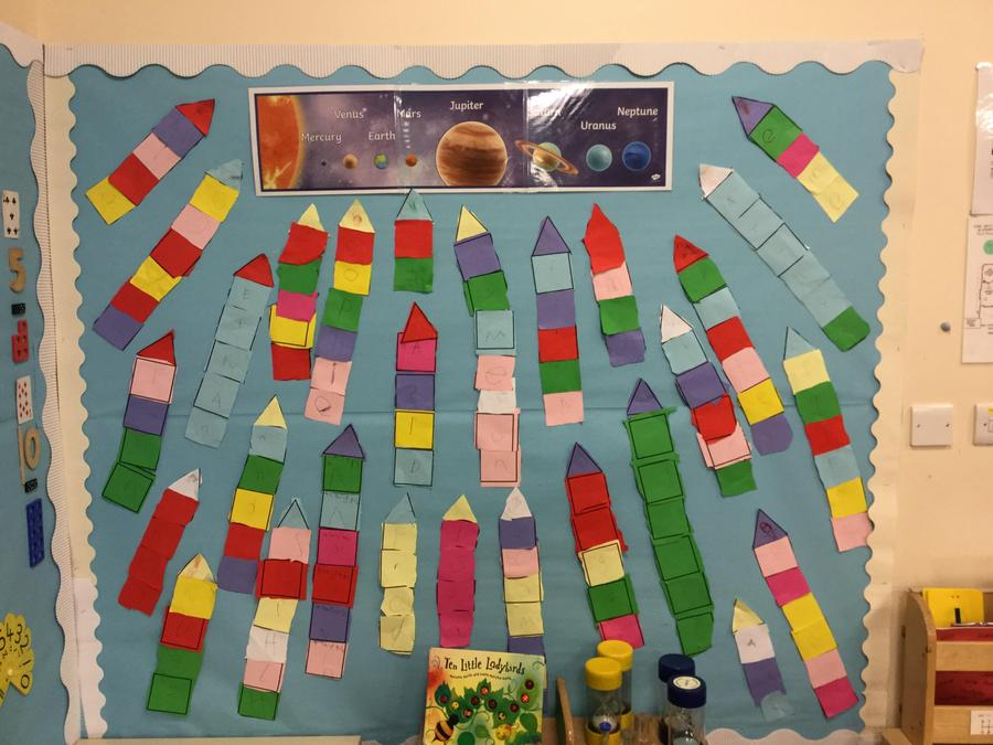 Our rocket display.