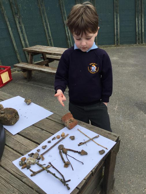 Making stone art for Holy Week