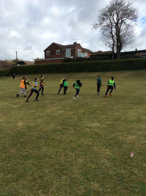 The year 6 children fought against the elements and demonstrated good determination