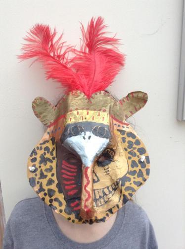Lily's Mayan mask