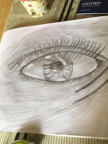 Annabelle's eye art!
