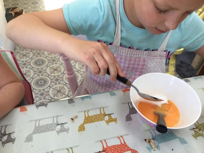 Jessie Baking for VE Day