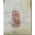 Draw and label the Gruffalo- Phoebe