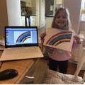 Lily G Rainbow pic using purple mash