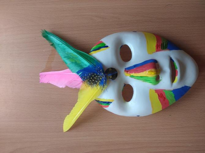 Latiesha's Mayan mask