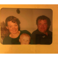 My mum's parents and me as a baby 1995.