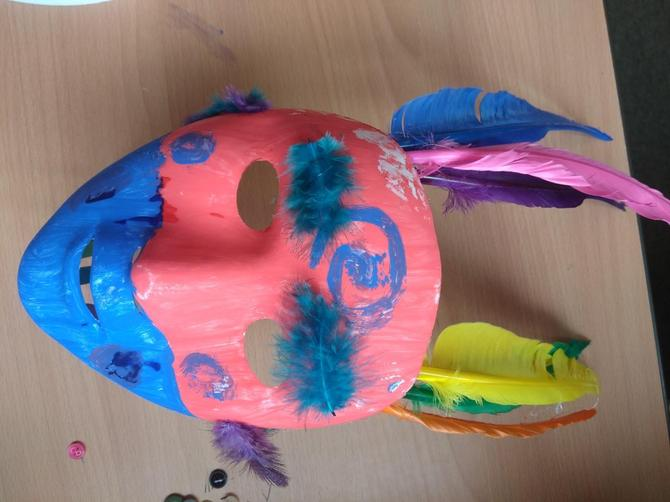Millie's Mayan mask