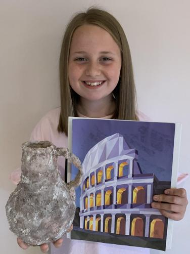 Summer's Greek vase & art work!