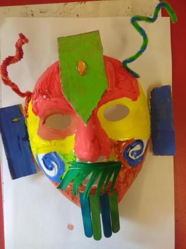 Tyler's Mayan mask