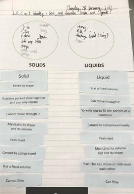 Laurence - Sorting Solids and Liquids using properties