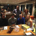 A family picture with 2 of my cousins at Wagamama for my 25th Birthday - 2019