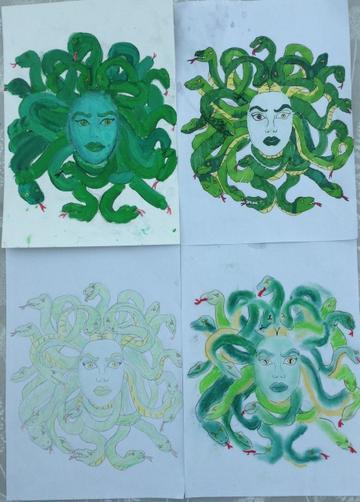 Lily's Medusa art work!