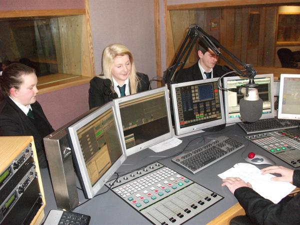 Working in the Coll Fm studio
