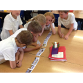 Sequencing our class story, The Stone Age Boy.