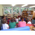 Dennis Harkness' story session in new library