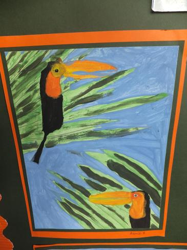 Y6 rainforest artwork