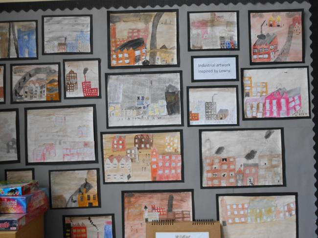 Y6 Lowry inspired work