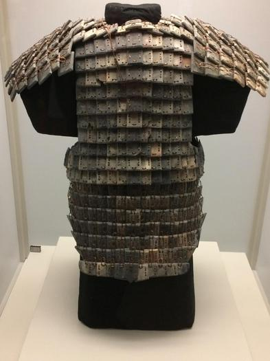 Armour made from small stone pieces