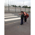 We have been learning to cross the road safely