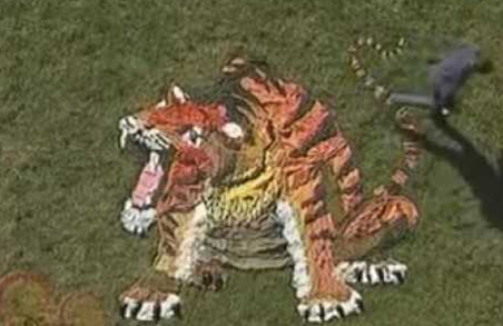 Here is an example of a Big Art Attack Tiger because I couldn't find one of a Seahorse!